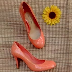 Gianni Bini Patent leather Coral pumps